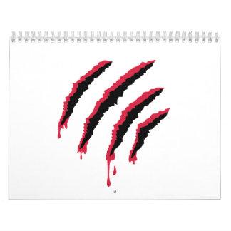 Rasguño sangriento calendarios