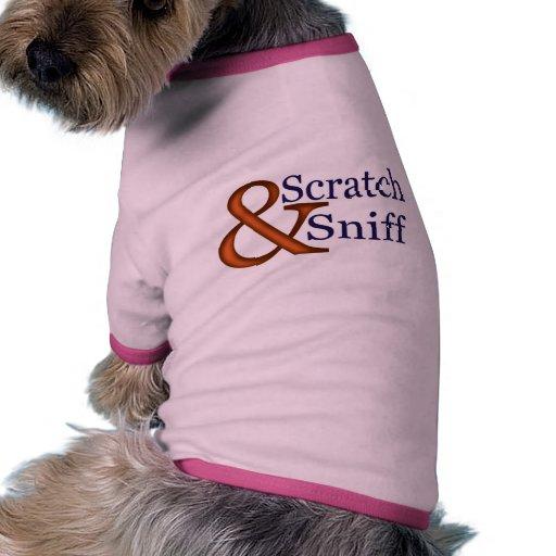 rasguño y aspiración camisa de mascota