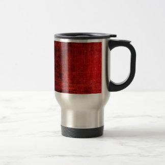 rasguños espeluznantes del rojo taza de café