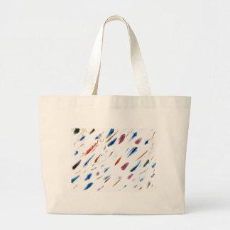 Rasguños y pintura abstracta de las manchas bolsa tela grande