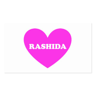 Rashida Tarjetas De Visita