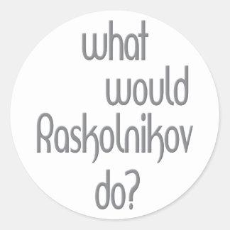 Raskolnikov Classic Round Sticker