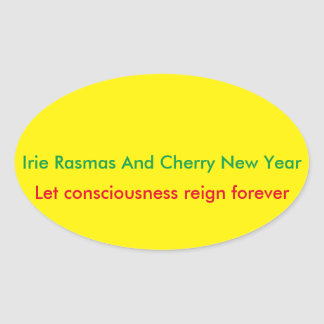 Rasmas holidays oval sticker