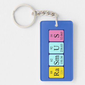 Rasmus periodic table name keyring keychain