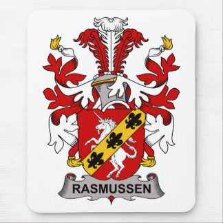 Rasmussen Family Crest Mouse Pad