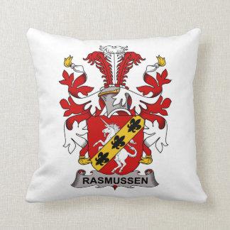 Rasmussen Family Crest Throw Pillows