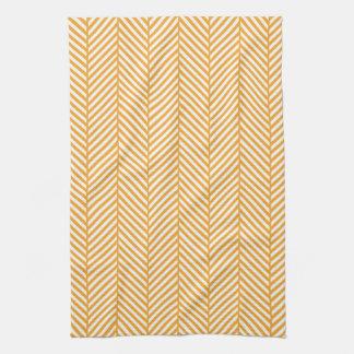 Raspa de arenque anaranjada toallas