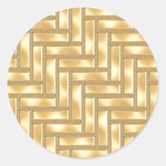 Raspa de arenque del oro pegatina