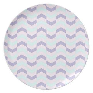 Raspa de arenque en colores pastel platos