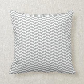 Raspa de arenque gris elegante almohada