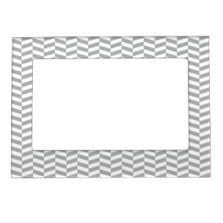 Raspa de arenque gris elegante marcos magnéticos