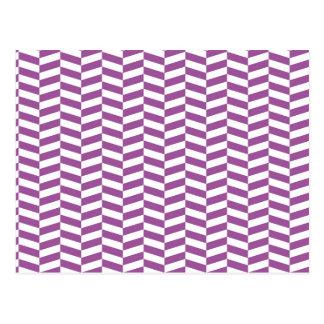 Raspa de arenque púrpura tarjeta postal