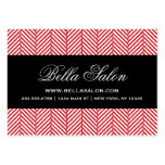Raspa de arenque roja y negra plantilla de tarjeta de visita