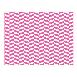Raspa de arenque rosada tarjeta postal