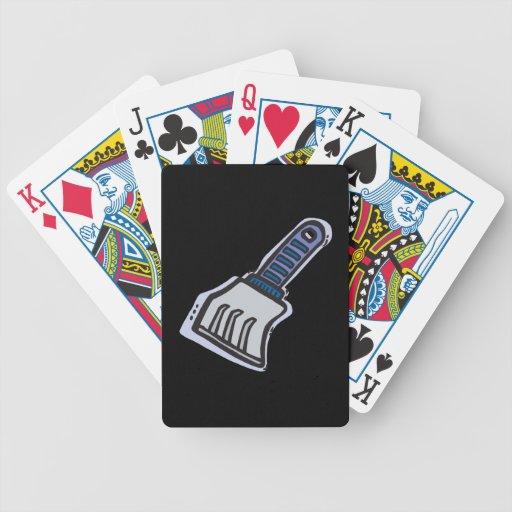 Raspador del hielo barajas de cartas