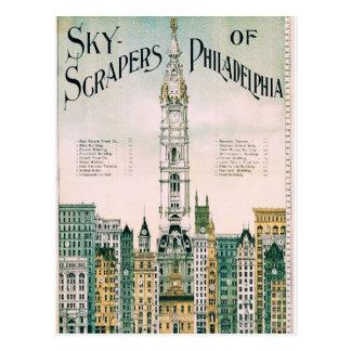 Raspadores del cielo de Philadelphia Tarjeta Postal