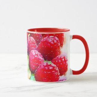 Raspberries and Almonds Watercolor Mug