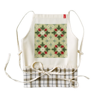 Raspberries and Blossoms Zazzle HEART Apron