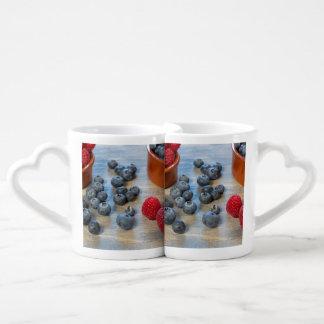 Raspberries and Blueberries Coffee Mug Set