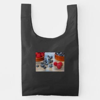Raspberries and Blueberries Reusable Bag
