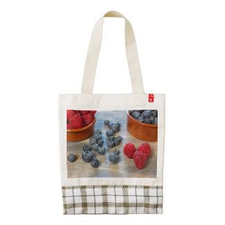 Raspberries and Blueberries Zazzle HEART Tote Bag