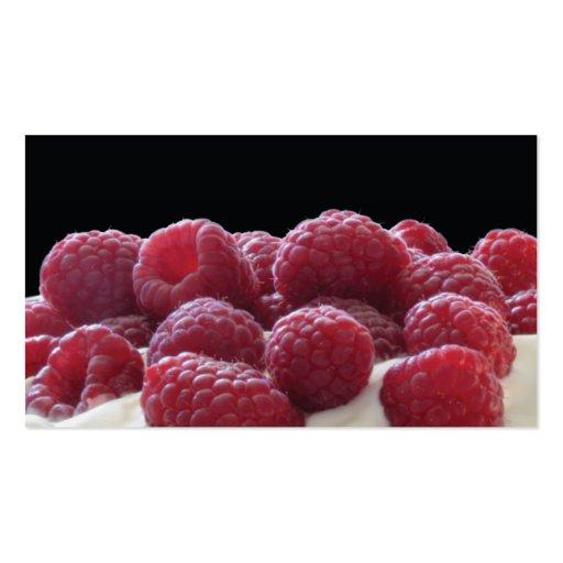 raspberries and cream business card