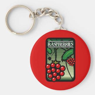 Raspberries Keychain
