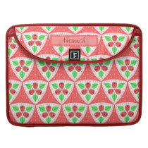 Raspberries Pattern Personalized MacBook Sleeve