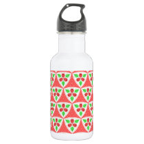 Raspberries Pattern Water 18 oz. Bottle