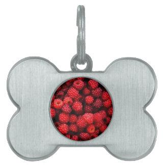 Raspberries Pet Tag