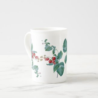 Raspberries Redoute Bone China Mug