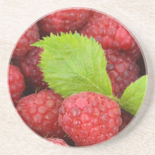 Raspberries Sandstone Coaster