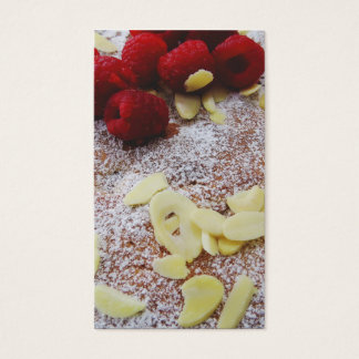 Raspberry and Almond Cake Business Cards
