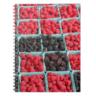 Raspberry and Blackberry Pints Note Books