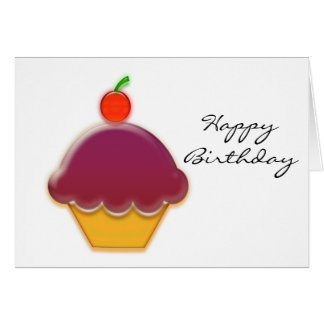 Raspberry and Cherry Cupcake Art Card