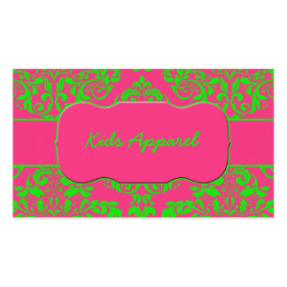 Raspberry and Lime Business Card Template