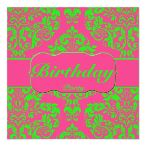 Raspberry and Lime Card