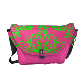Raspberry and Lime Courier Bag