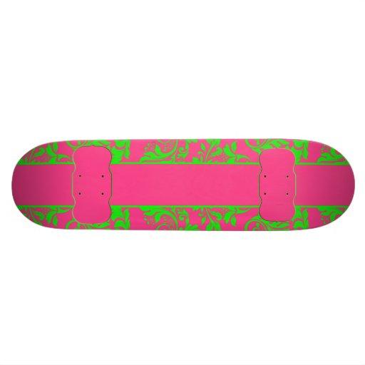 Raspberry and Lime Skateboard