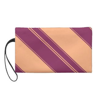 Raspberry and Peach Striped Mini Bag