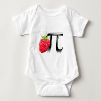 Raspberry and Pi symbol Baby Bodysuit