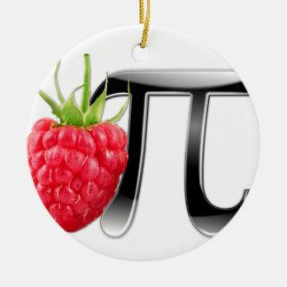 Raspberry and Pi symbol Ceramic Ornament