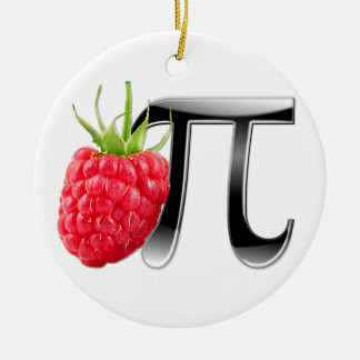 Raspberry and Pi symbol Ceramic Ornament