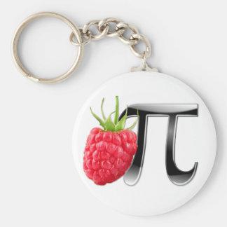 Raspberry and Pi symbol Basic Round Button Keychain