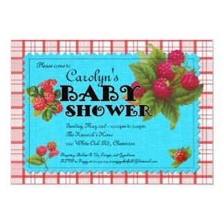 Raspberry Baby Shower Invitation