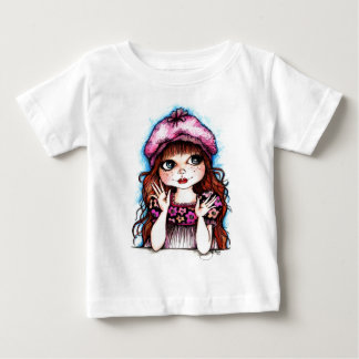Raspberry Beret...A French Connection Baby T-Shirt