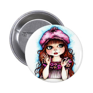 Raspberry Beret...A French Connection Button