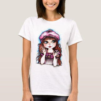 Raspberry Beret...A French Connection T-Shirt