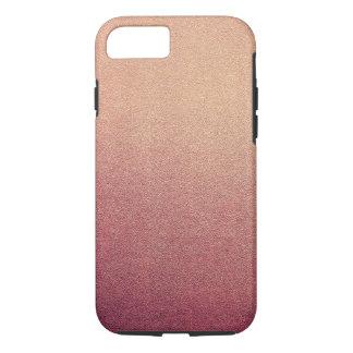 Raspberry Blush Glitter Sand Visual Texture Ombre iPhone 7 Case