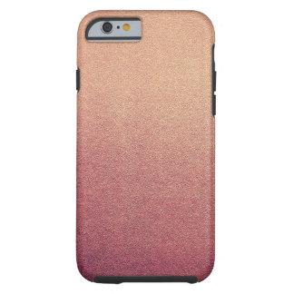 Raspberry Blush Glitter Sand Visual Texture Ombre Tough iPhone 6 Case